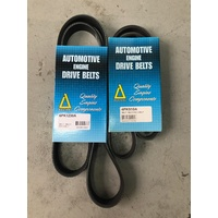 Alternator / Air Con & Power Steering Belt set Mitsubishi 380 - 2 Belts