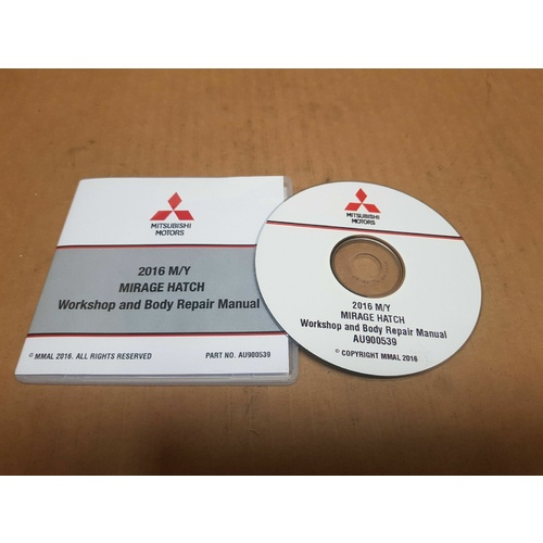 Workshop Manual on CD GENUINE (not cheap copy) Mitsubishi Mirage 2016